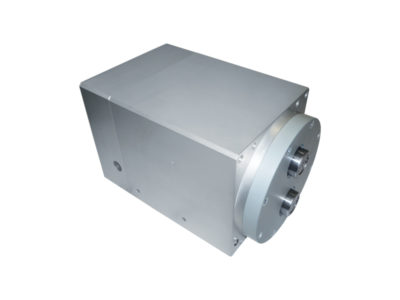 Special actuator with anti-rotation double-piston rod and double-thrust tandem piston for packaging machines