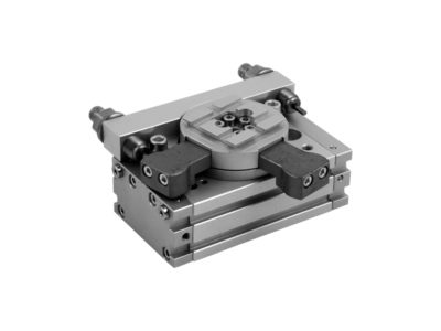 Rotary actuator Series R3K with external shock absorbers